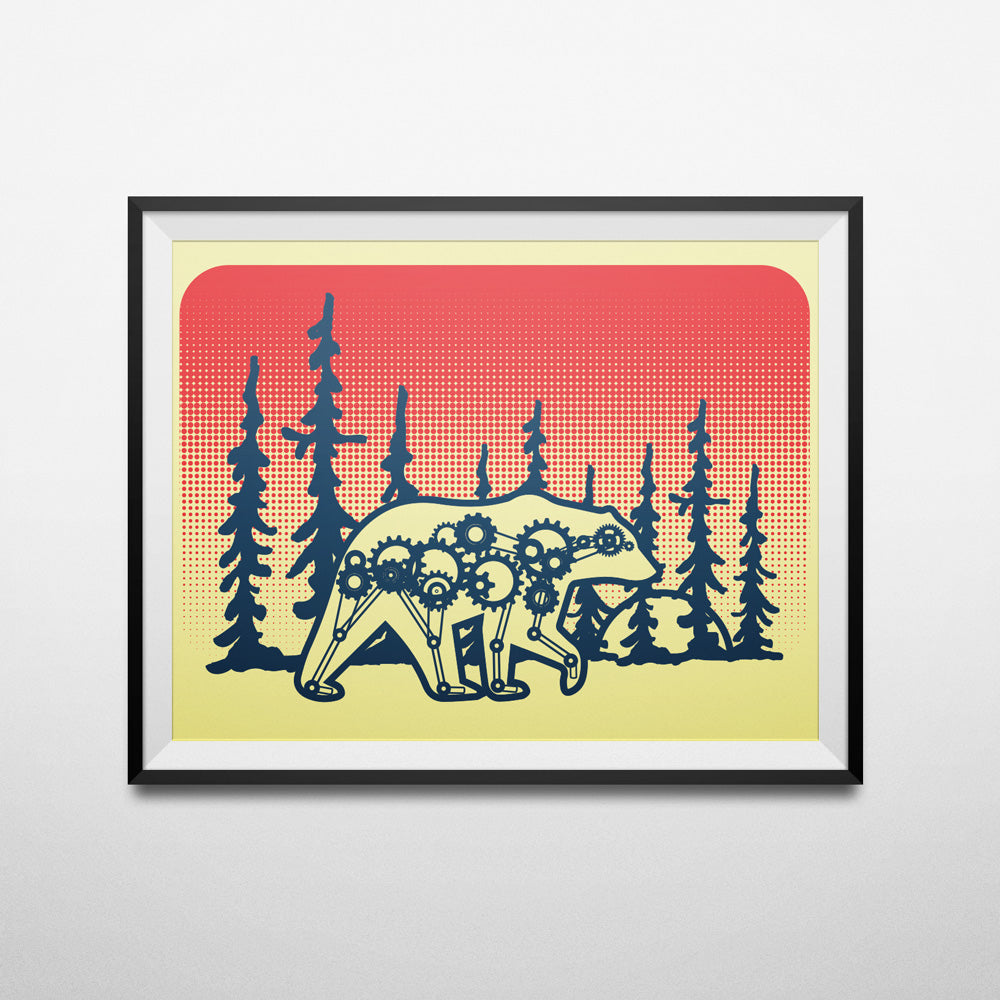 Mechanical Bear Print