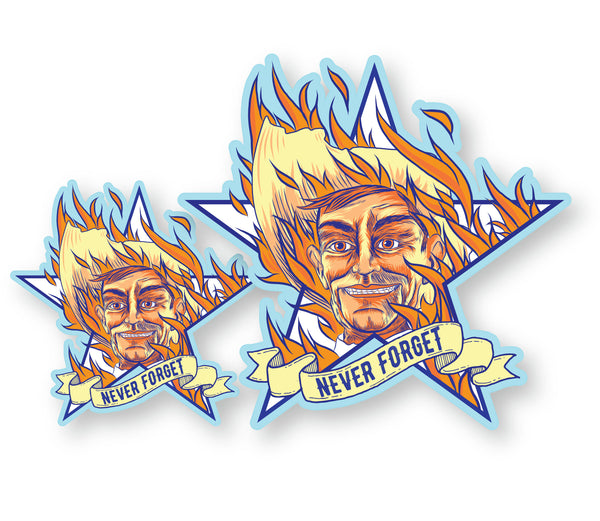 "Big Tex on Fire State Fair of Texas Decal (2 Pack) (5"" and 3"")"