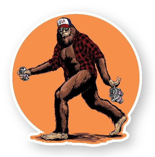 "Bigfoot Beer Decal (2 Pack) (5"" and 3"")"