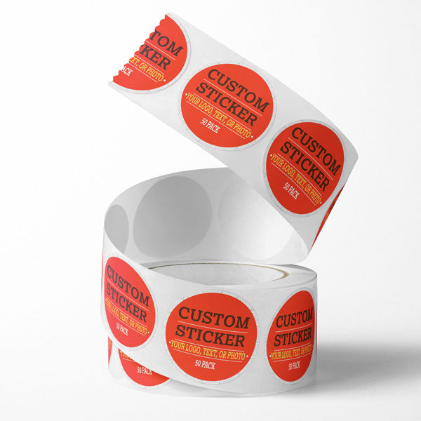 Custom Circle Sticker Decal Label (50 Pack)