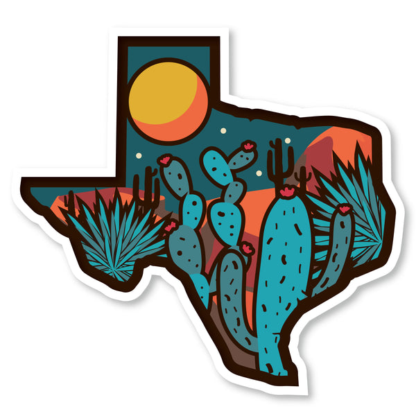 "Texas Desert Decals (2 Pack) (5"" and 3"")"