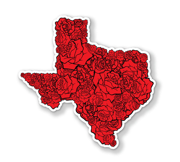 "Texas Rose Texture Decals (2 Pack) (5"" and 3"")"