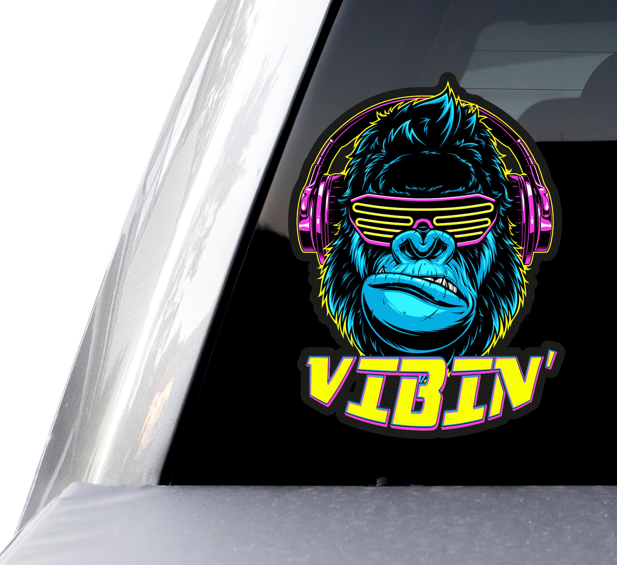 "Vibin Gorilla Music Decals (2 Pack) (5"" and 3"")"