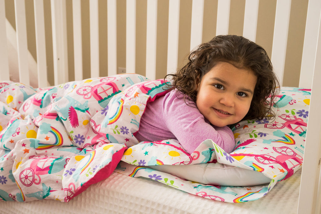 Bright Geo Stripe Mini Toddler Blanket - Lifetime Sensory Solutions