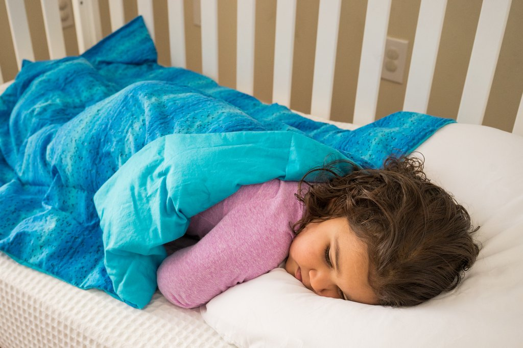 Blue Bubbles Mini Toddler Blanket - Lifetime Sensory Solutions