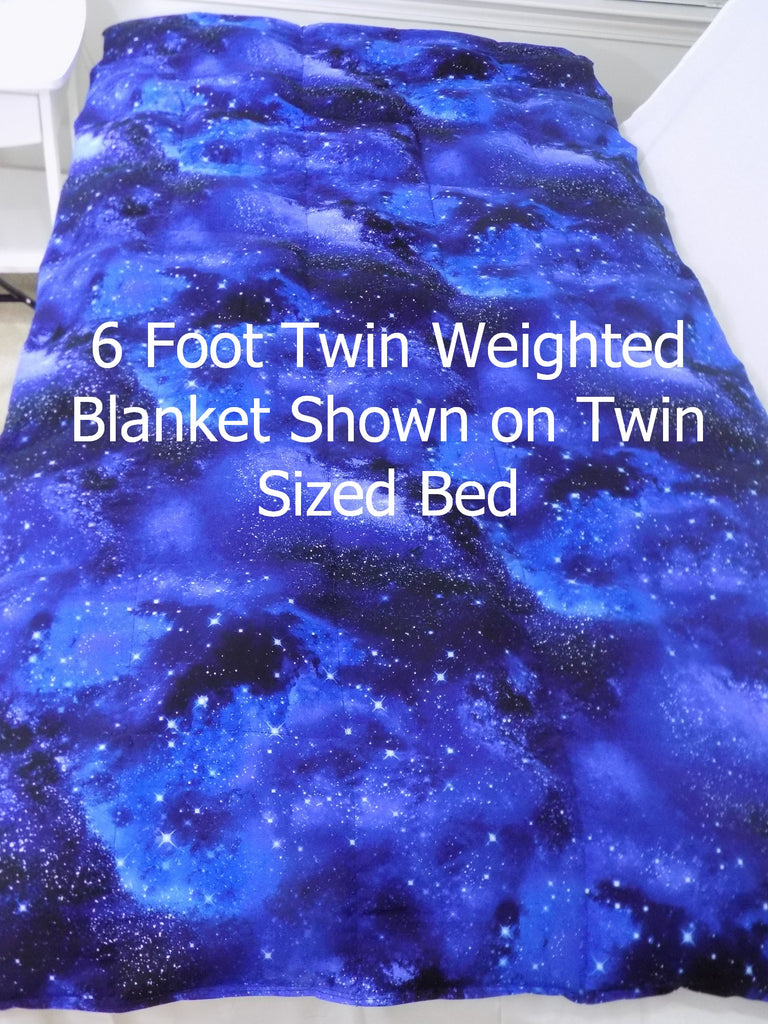 6 Foot Twin Navy Paisley - Lifetime Sensory Solutions