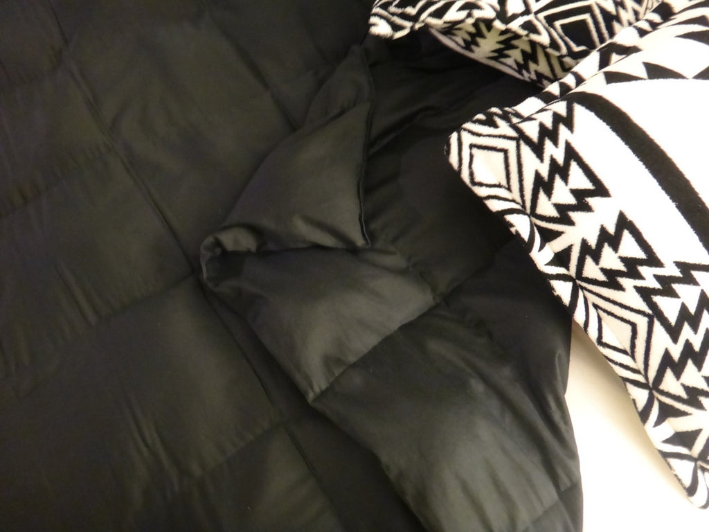 Light Grey Leather-Look Cotton Full Size Weighted Blanket - Lifetime Sensory Solutions