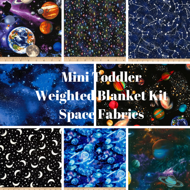 Mini Toddler Weighted Blanket Kit, Space Fabrics - Lifetime Sensory Solutions