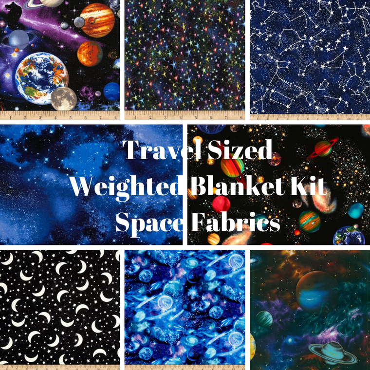 Travel Sized Weighted Blanket Kit, Space Fabrics