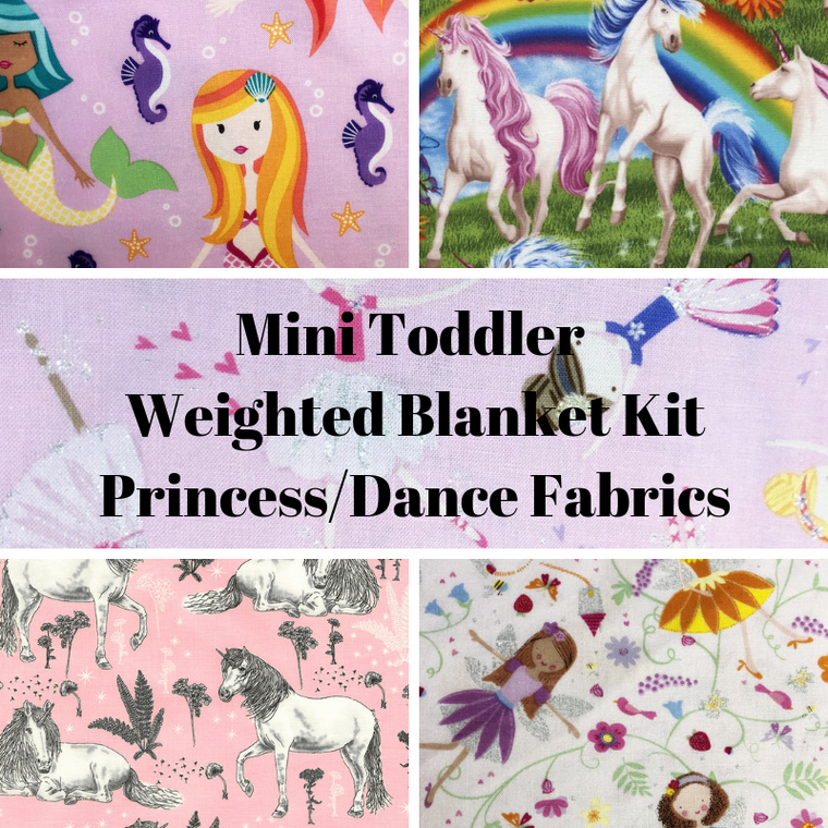 Mini Toddler Weighted Blanket Kit, Princess/Dance Fabrics - Lifetime Sensory Solutions