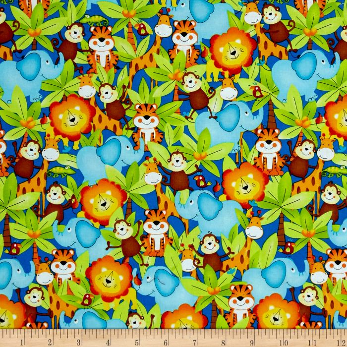 Jungle Animals Mini Toddler Blanket