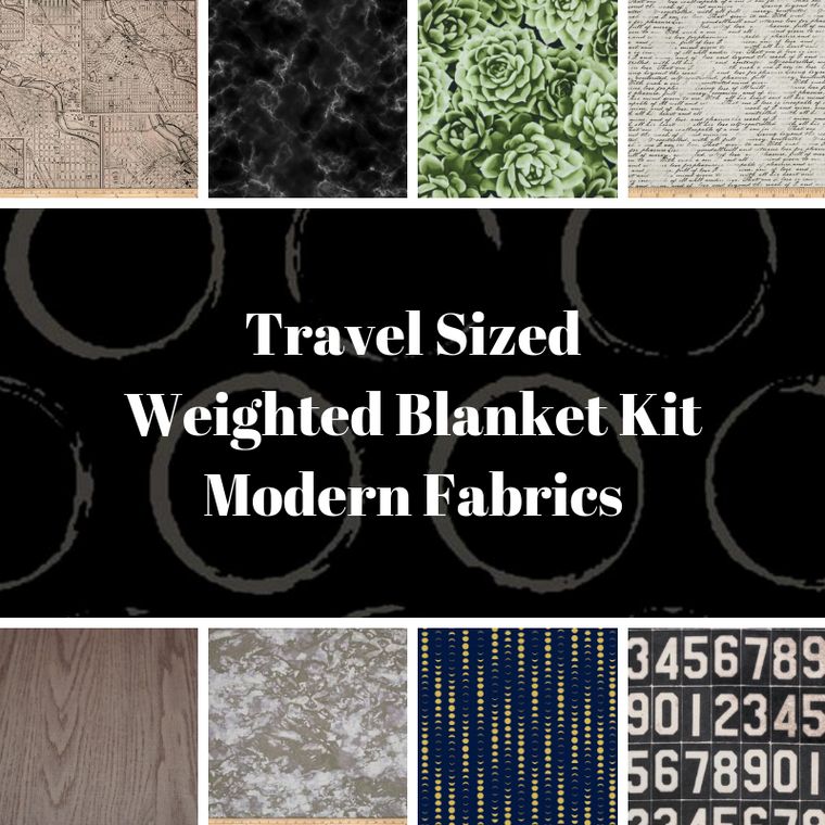 Travel Sized Weighted Blanket Kit, Modern Fabrics - Lifetime Sensory Solutions