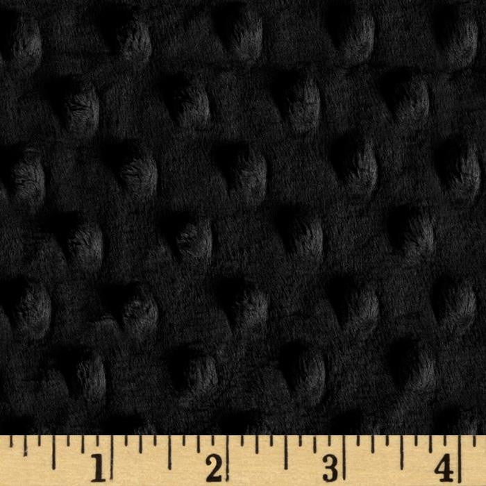 Black Minky backing for Mini Toddler blanket - Lifetime Sensory Solutions