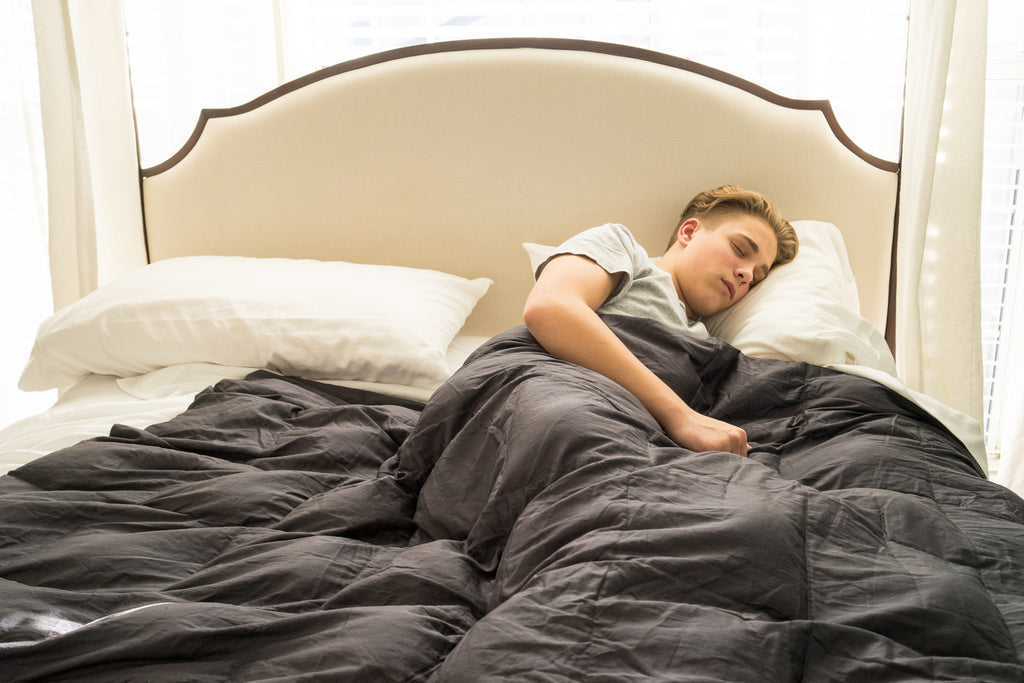 King Blue Ice Mosiac Weighted Blanket - Lifetime Sensory Solutions