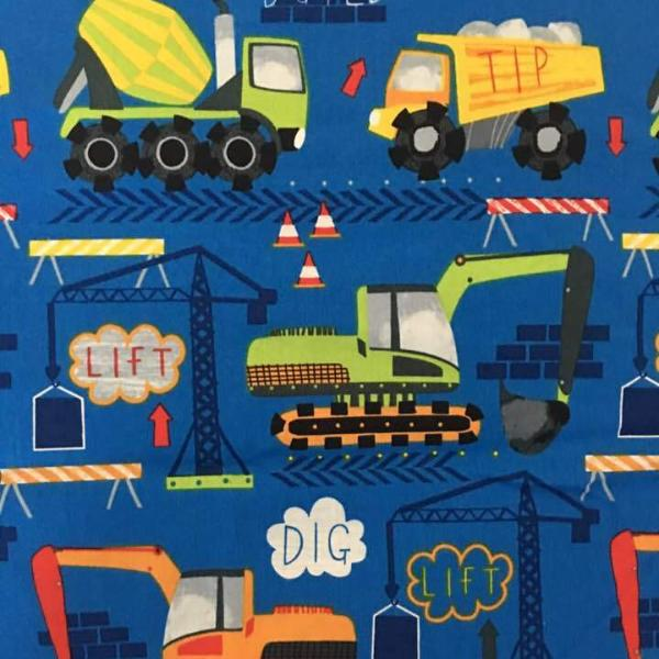 Cobalt Construction Truck Mini Toddler Blanket