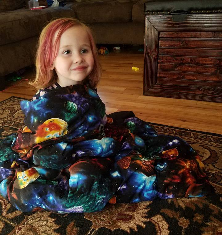 5 Foot Twin Pink Mermaid FLANNEL - Lifetime Sensory Solutions