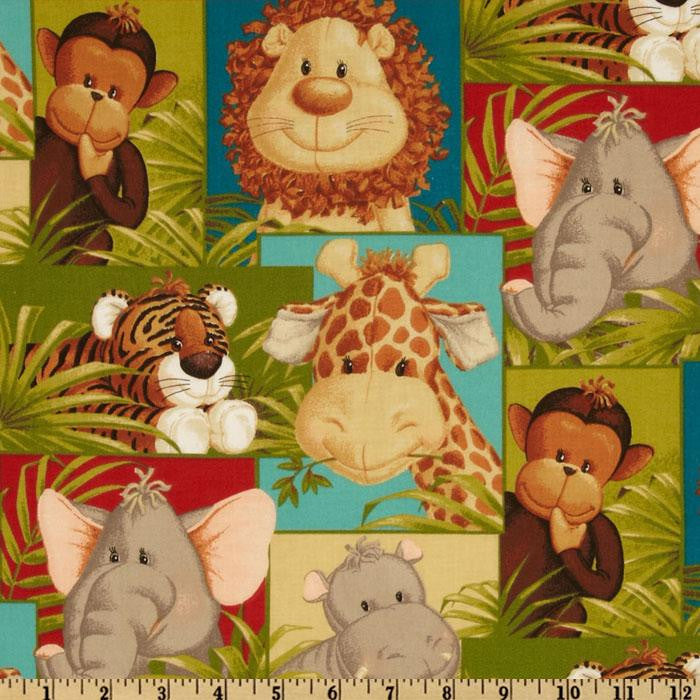 Jungle Babies Mini Toddler Blanket