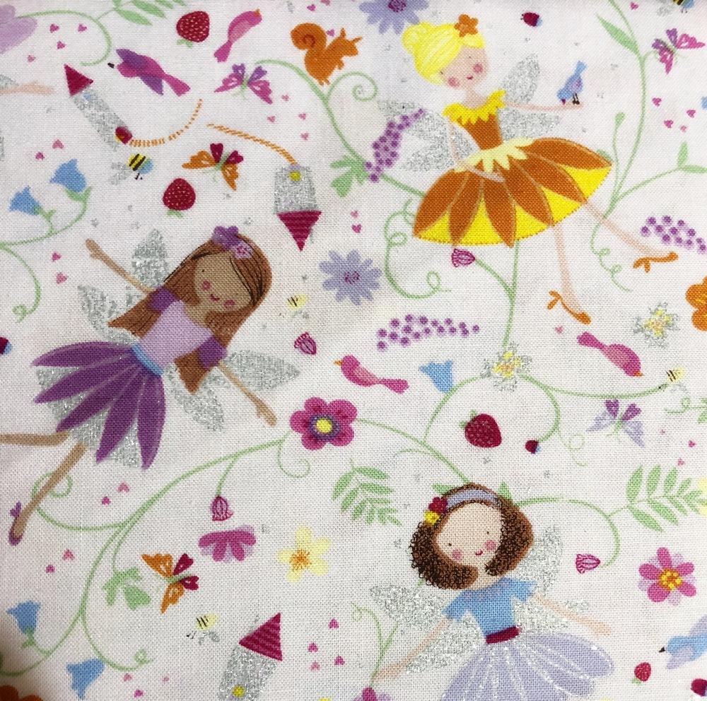 4 lb, Mini Toddler Lavender Fairies Ready To Ship Weighted Blanket - Lifetime Sensory Solutions