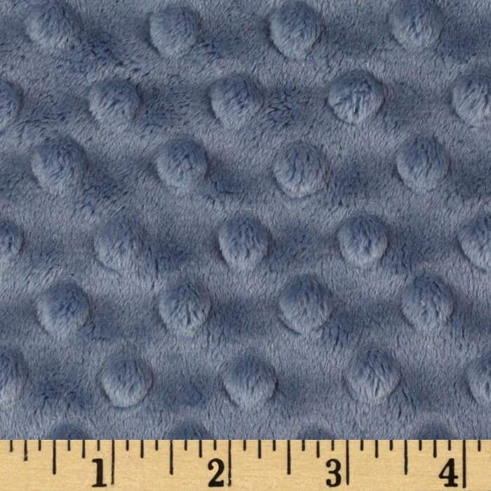 Light Grey Minky backing for 5 foot twin blanket - Lifetime Sensory Solutions