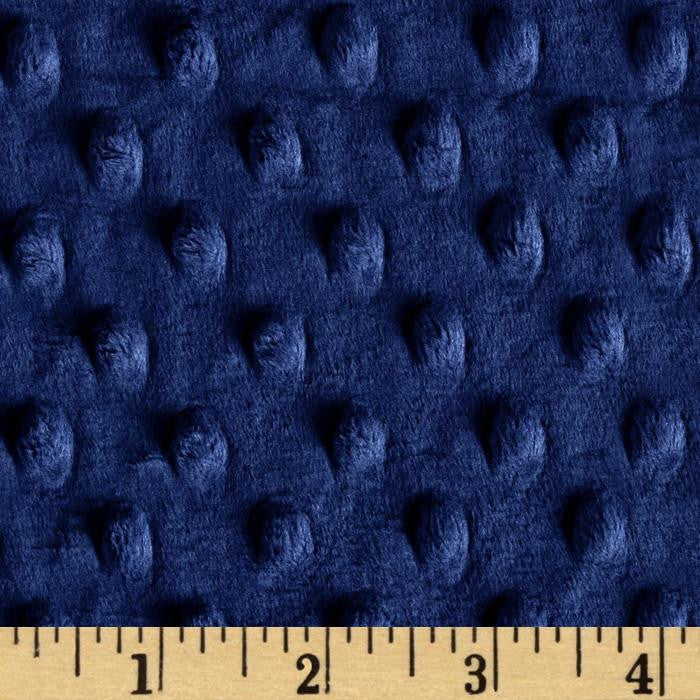 Navy Blue Minky backing for 6 foot twin blanket - Lifetime Sensory Solutions