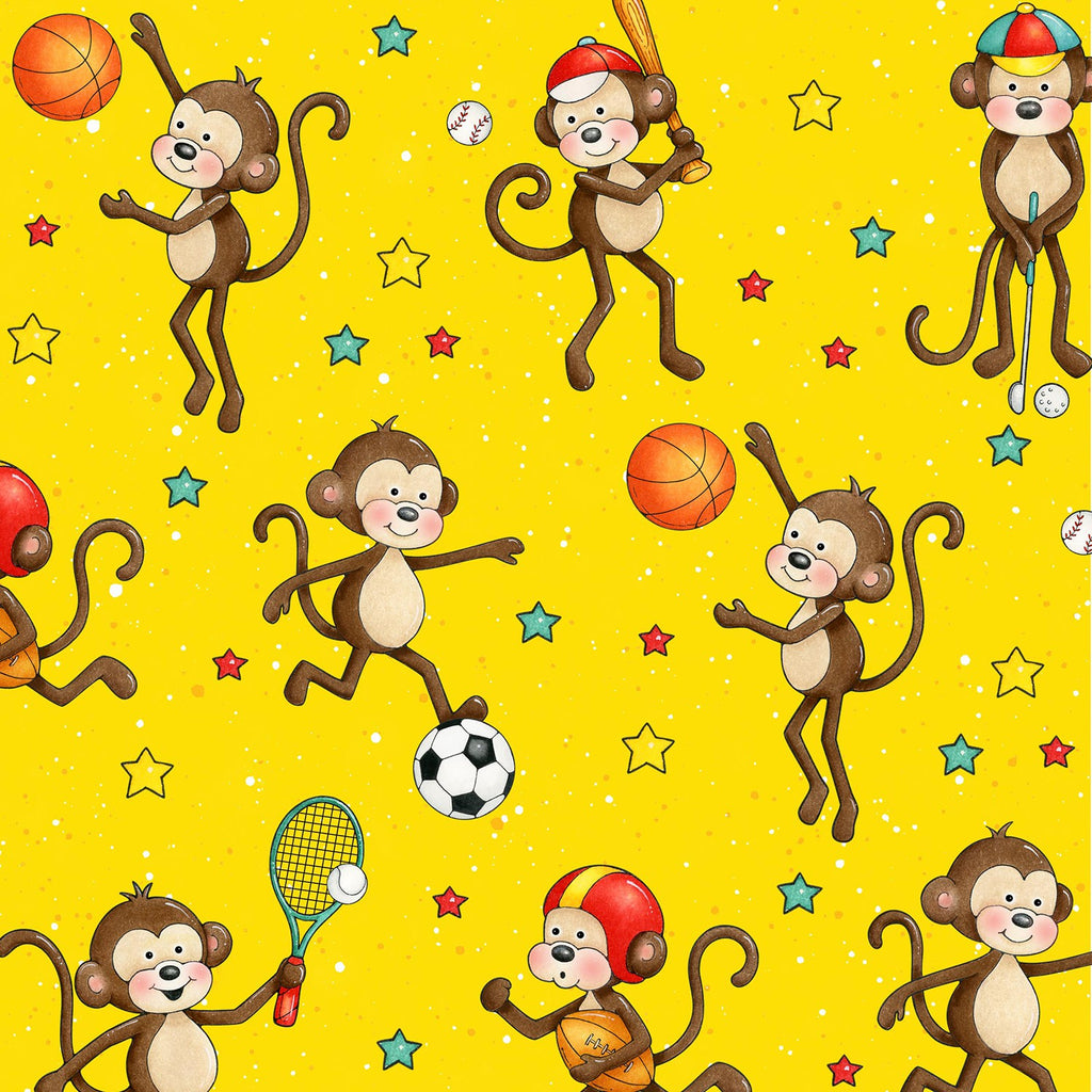 5 Foot Twin Yellow Monkeys - Lifetime Sensory Solutions