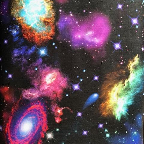 6 Foot Twin Ready to Ship Blanket Nebula Print - Lifetime Sensory Solutions
