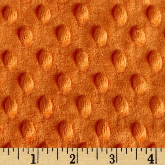 Orange Minky backing for 5 foot twin blanket - Lifetime Sensory Solutions