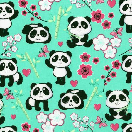 5 Foot Twin Pandas and Flowers - Lifetime Sensory Solutions
