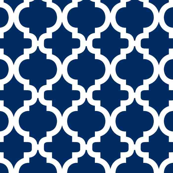 Navy Quatrefoil Mini Toddler Blanket - Lifetime Sensory Solutions