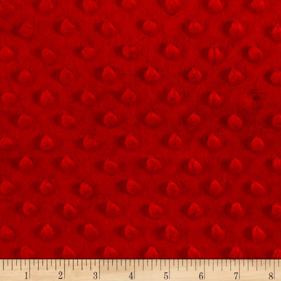 Red Minky backing for 6 foot twin blanket - Lifetime Sensory Solutions