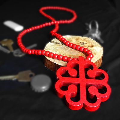 Wooden Chain (Red)