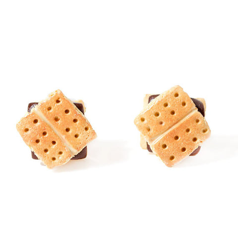 Shortbread Biscuit Stud Earrings