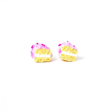 Vanilla Raspberry Cake Earrings
