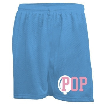 Baby Blue & Pink Pop Bubblegum Mesh Shorts