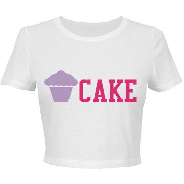 Vanilla & Raspberry Cake Crop Top T-Shirt