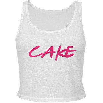 Vanilla & Raspberry Cake Crop Top