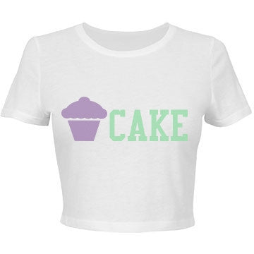 Vanilla & Mint Cake Crop Top T-Shirt
