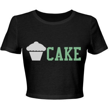 Blackjack & Mint Vanilla Cake Crop Top T-Shirt