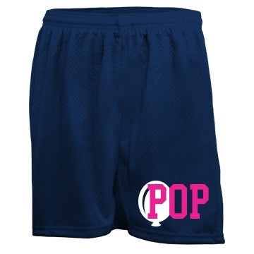 Navy & Hot Pink Pop Bubblegum Mesh Shorts