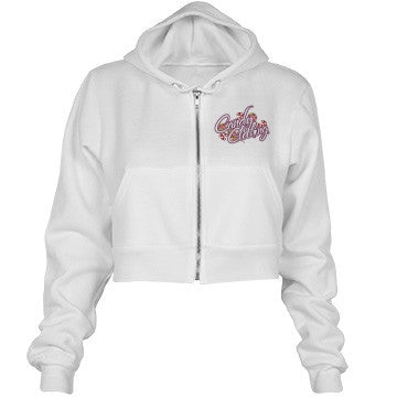 White Vanilla Candy Clothing Junior Fit Crop Hoodie