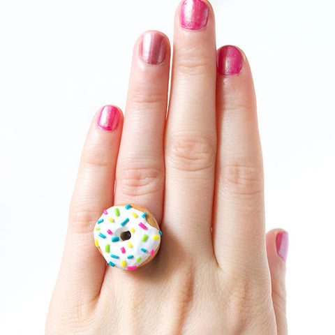 Vanilla Colorful Sprinkled Donut Ring