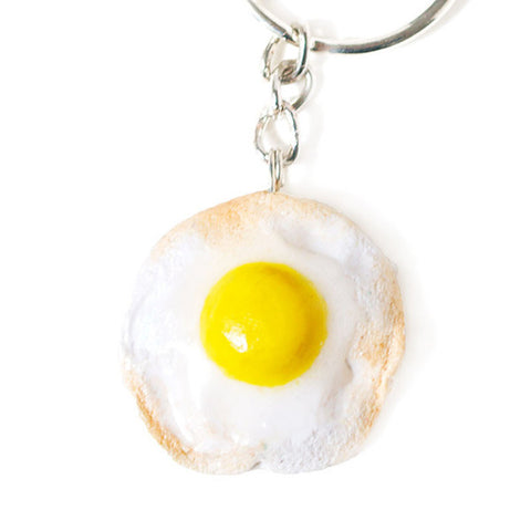 Fried Egg Breakfast Keyring