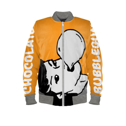 Chocolate Orange & Vanilla Graffiti Bomber Jacket