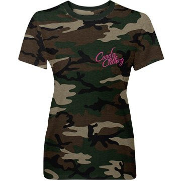 Candy Clothing Hot Pink Camo Military T-Shirt