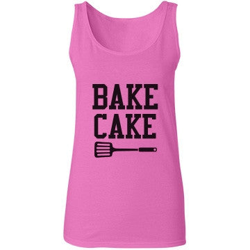 Barbie Pink Bake Cake Bakery Vest Top - Candy Clothing