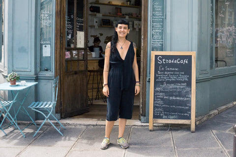 Paris: Alara Wearing Figura Jumpsuit