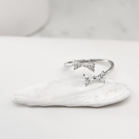 - A| Bow Open Ring Sterling Silver