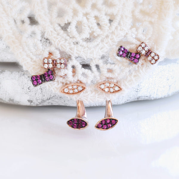 Tiny Great Set - Two Ways Earrings - anelarevese - 2
