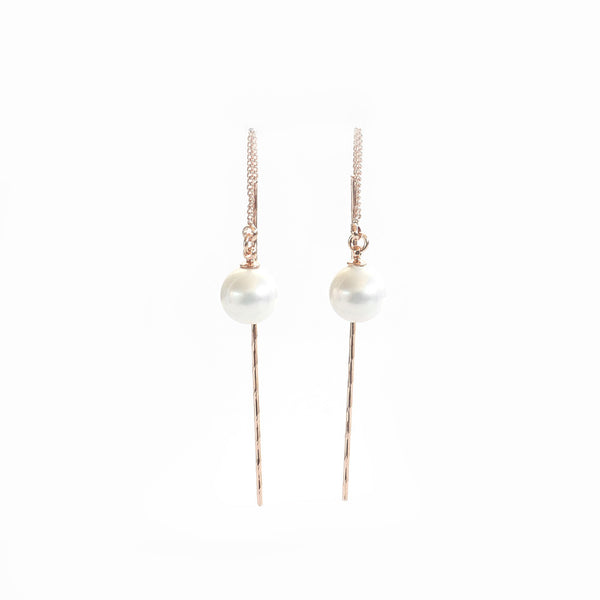 Pearl Drop Earrings Sterling Silver - anelarevese - 3