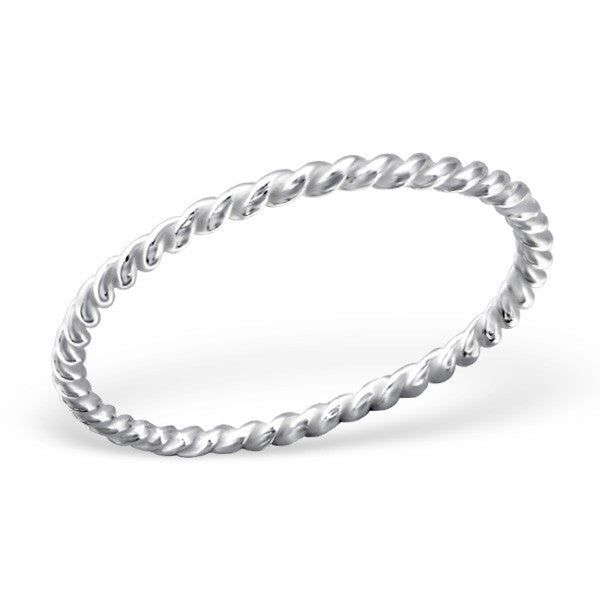 Twisted Ring Sterling Silver - anelarevese - 2